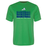 Performance Kelly Green Tee-Basketball Triple Stacked