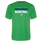 Performance Kelly Green Tee-Basketball Stacked