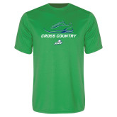 Performance Kelly Green Tee-Cross Country Shoe