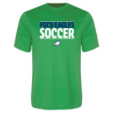 Performance Kelly Green Tee-Stacked Soccer