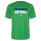 Syntrel Performance Kelly Green Tee-Softball Stacked