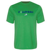Performance Kelly Green Tee-Volleyball w/ Ball
