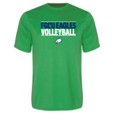 Performance Kelly Green Tee-Volleyball Stacked
