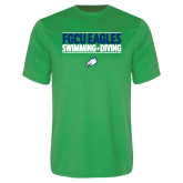 Performance Kelly Green Tee-Swimming and Diving Stacked