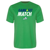 Syntrel Performance Kelly Green Tee-Game Set Match Tennis