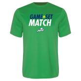 Performance Kelly Green Tee-Game Set Match Tennis
