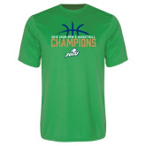 Performance Kelly Green Tee-2016 Atlantic Sun Conference Champions Mens Basketball