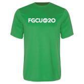 Performance Kelly Green Tee-FGCU at 20 Flat
