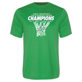 Syntrel Performance Kelly Green Tee-Regular Season Champions 2017 Mens Basketball Net Design