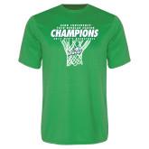 Syntrel Performance Kelly Green Tee-Regular Season Champions 2017 Mens Basketball Net Design
