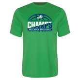 Syntrel Performance Kelly Green Tee-Regular Season Champions 2017 Mens Basketball Half Ball Design