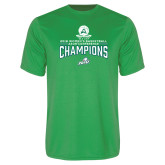 Performance Kelly Green Tee-2018 Womens Basketball Champions