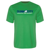 Performance Kelly Green Tee-Dunk City Official Logo