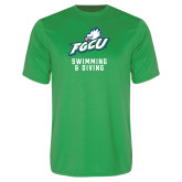 Syntrel Performance Kelly Green Tee-Swimming and Diving