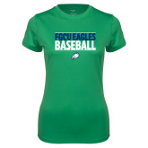 Ladies Syntrel Performance Kelly Green Tee-Baseball Stacked
