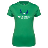 Ladies Syntrel Performance Kelly Green Tee-Cross Country Wings
