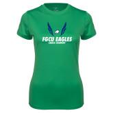 Ladies Syntrel Performance Kelly Green Tee-Cross Country Wings