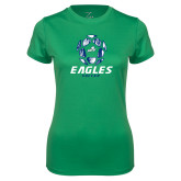 Ladies Syntrel Performance Kelly Green Tee-Soccer Ball Design