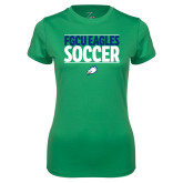 Ladies Syntrel Performance Kelly Green Tee-Stacked Soccer