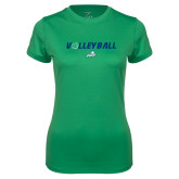 Ladies Syntrel Performance Kelly Green Tee-Volleyball w/ Ball