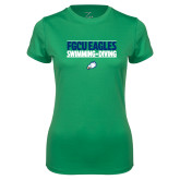 Ladies Syntrel Performance Kelly Green Tee-Swimming and Diving Stacked