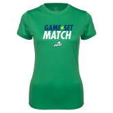 Ladies Syntrel Performance Kelly Green Tee-Game Set Match Tennis