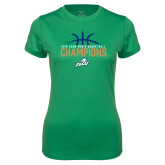 Ladies Syntrel Performance Kelly Green Tee-2016 Atlantic Sun Conference Champions Mens Basketball