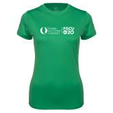 Ladies Syntrel Performance Kelly Green Tee-FGCU20 Plus Logo