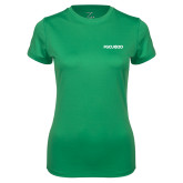 Ladies Syntrel Performance Kelly Green Tee-FGCU at 20 Flat