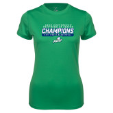 Ladies Syntrel Performance Kelly Green Tee-Regular Season Champions 2017 Mens Basketball Bar Design