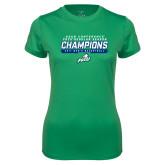 Ladies Syntrel Performance Kelly Green Tee-Regular Season Champions 2017 Mens Basketball Bar Design