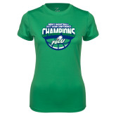 Ladies Syntrel Performance Kelly Green Tee-ASUN Champions 2017 Mens Basketball