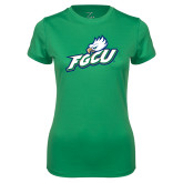 Ladies Syntrel Performance Kelly Green Tee-Primary Athletic Mark