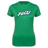 Ladies Syntrel Performance Kelly Green Tee-FGCU