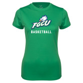 Ladies Syntrel Performance Kelly Green Tee-Basketball