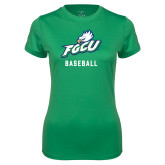 Ladies Syntrel Performance Kelly Green Tee-Baseball