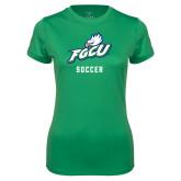Ladies Syntrel Performance Kelly Green Tee-Soccer