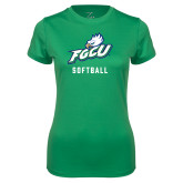 Ladies Syntrel Performance Kelly Green Tee-Softball