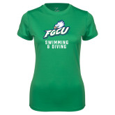 Ladies Syntrel Performance Kelly Green Tee-Swimming and Diving