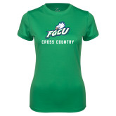 Ladies Syntrel Performance Kelly Green Tee-Cross Country
