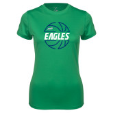 Ladies Syntrel Performance Kelly Green Tee-Basketball in Ball