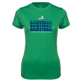 Ladies Syntrel Performance Kelly Green Tee-Basketball Triple Stacked