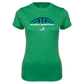 Ladies Syntrel Performance Kelly Green Tee-Basketball Half Ball