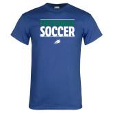 Royal T Shirt-Stacked Soccer