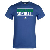 Royal T Shirt-Softball Stacked