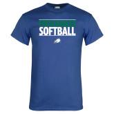 Royal T Shirt-Softball Stacked