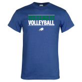 Royal T Shirt-Volleyball Stacked