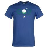 Royal T Shirt-Golf Flag and Ball