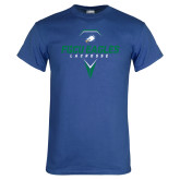 Royal T Shirt-Lacrosse Abstract Stick