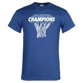 Royal T Shirt-Regular Season Champions 2017 Mens Basketball Net Design